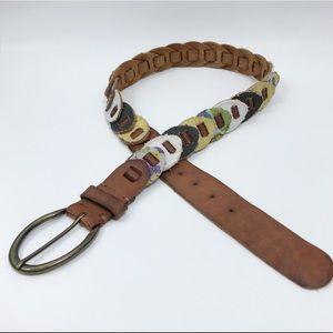 dELiA*s Genuine Leather Canvas Multicolor Belt
